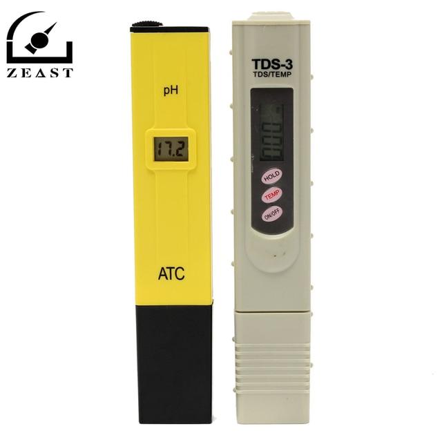 Portable Digital PH Meter +TDS Tester Pocket Aquarium LCD PH Value Test Pen  TDS3 Quality