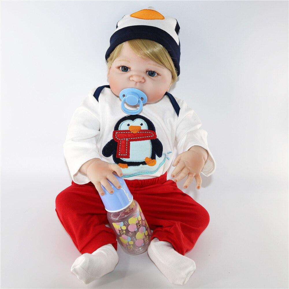 Bonecas personnalisé haut de gamme 56 cm fait à la main réaliste bébé Silicone vinyle garçon Reborn nouveau-né poupées bébé vivant pour les filles juguetes BJD