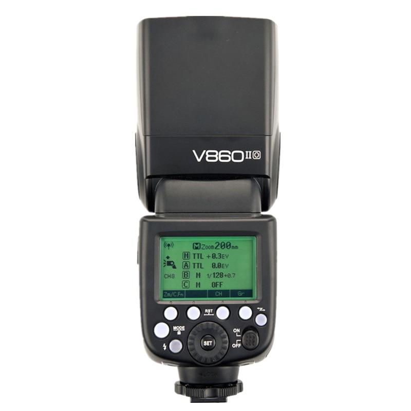 Godox V860II O V860IIO 2.4G 1/8000S GN60 TTL Camera Flash Speedlite Strobe for Olympus Panasonic Lumix HSS 1/3000 1/20000 godox tt685o 2 4g hss 1 8000s ttl ii gn60 camera flash speedlite x1t o transmitter softbox for panasonic olympus gift kit