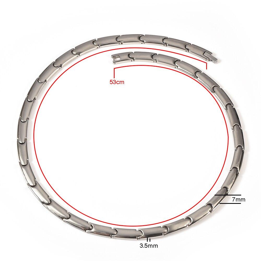 Wollet Jewelry Bio Magnetic Collar de titanio puro para mujeres Solid - Bisutería - foto 2