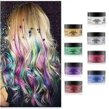 FashionUnisex Color Hair Wax Dye Color Styling Temporary Colors Cream Burgundy Gray Hair Dye Wax Easy Wash Plants Component