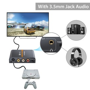 Image 3 - Neoteck Alloy AV Composite S Video to HDMI With 3.5mm Audio Converter Upscaler 720P/ 1080P for NES N64 Sega Genesis PS2 PS3