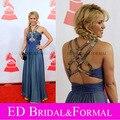 Shakira noche vestido de baile latino de grabación de la academia persona glamour-mujeres-of-the-year-awards Red Carpet Celebrity con cuentas gasa vestido Formal