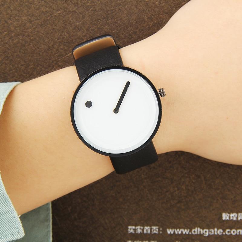 2017 Minimalist style creative wristwatches BGG black & white new design Dot and Line simple stylish quartz fashion watches gift 5
