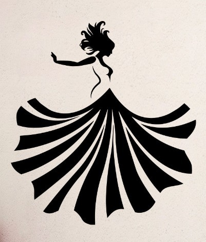 Sexy Girl Vinyl Wall Decal Girl Dancing Dress Fashion Beauty Shop Mural Wall Sticker Salon Clothes Store Bedroom Decoration