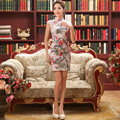 Chinese Qipao Clothes Women's  Cheongsam Qipao Short Dress Chinese Oriental Dresses Traditional Chinese Cheongsams