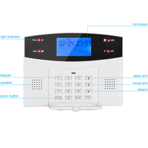 Image 4 - G2BW LCD Keypad WIFI GSM PSTN Home Burglar Security Wireless Wire Alarm System Motion Detector APP Control Fire Smoke Detector