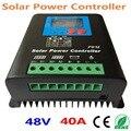48 в зарядное устройство регулятор для 2000 Вт PV солнечных панелей ЖК-дисплей зарядка от сетки Солнечный контроллер заряда 40А 48В система