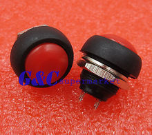 цена на 2PCS 12mm Waterproof Momentary ON/OFF Push Button Mini Round Switch Red