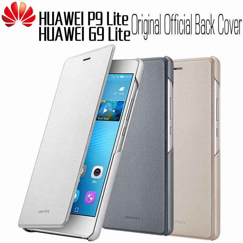 HUAWEI P9 Lite Case Original 100% Official High Quality Flip Leather Wake Sleep Protective Huawei G9 Lite Cover P9 Lite Case