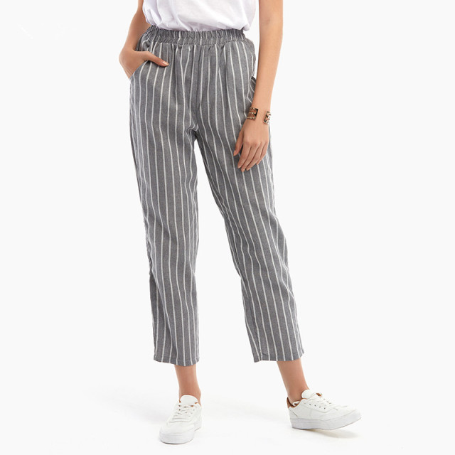 a399c9d67ce32 AVODOVAMA M Spring Summer Women Harlan Trousers Stripes Leggings Elastic Waist  Casual Comfortable Fashion Pants