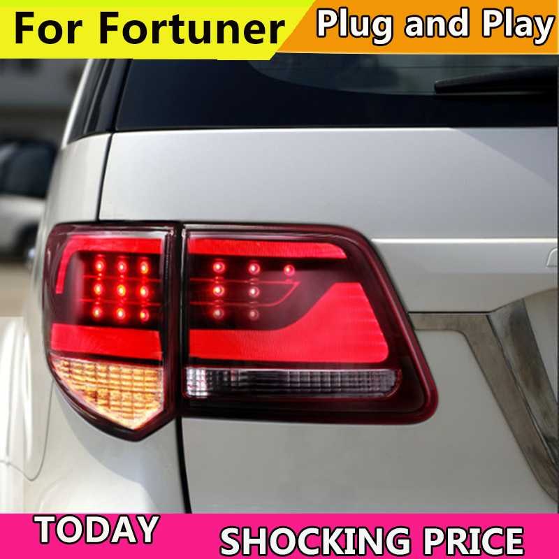 doxa Car led Rear lamp for car Tail lamp For Fortuner LED Taillight 2012 2013 2014 <font><b>2015</b></font> <font><b>4Runner</b></font> Tail lamp with DRL+Brake+Reverse image
