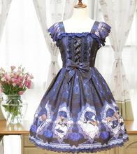 The new fairy tale JSK Alice lolita blouse dress little red riding hood printed retro cultivate one's morality