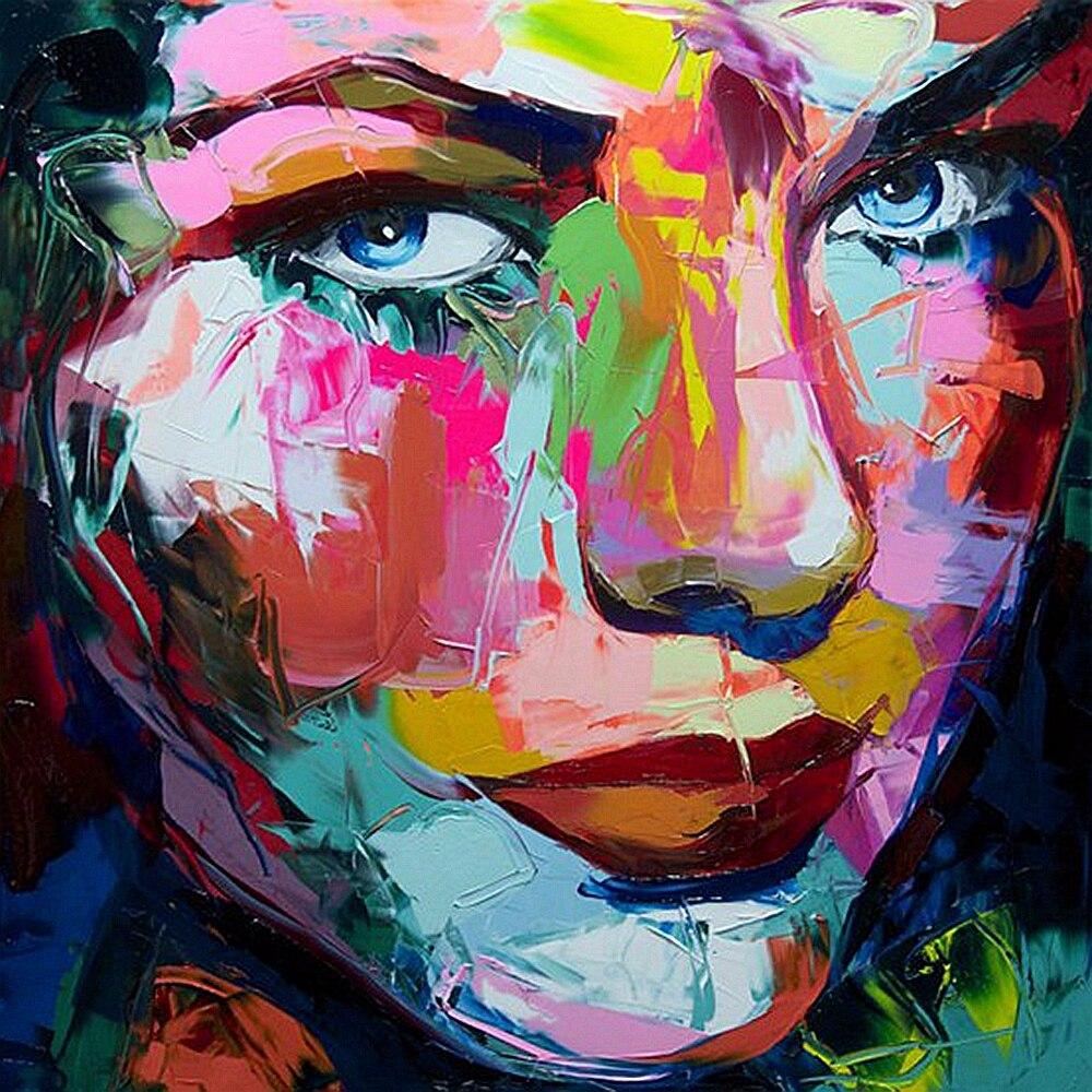 Hand Bemalt Abstrakten Wand Kunst Leinwand Gemälde für Büro Zimmer Wand Dekor Farbe Frauen Gesicht Öl Malerei Tropfen Verschiffen Großhandel