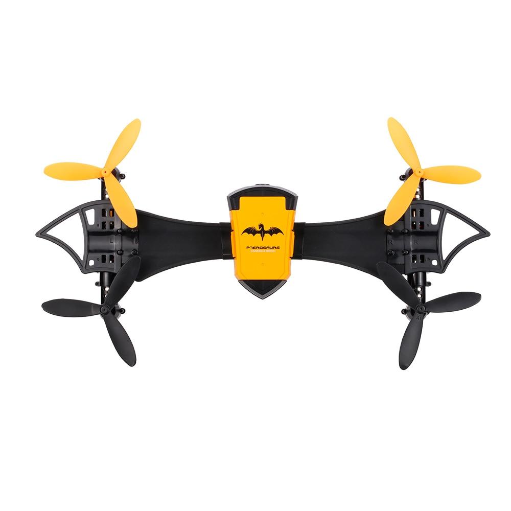 Cheerson CX-70 Transformable Bat Drone 0.3MP HD Camera Wifi FPV Wearable Quadcopter G-Sensor Selfie Drone Pocket Helicopter cheerson cx 10wd mini wifi fpv rc quadcopter bnf gold