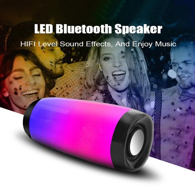 M&J Colorful LED Lights Bluetooth Speaker  1