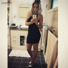2018 Women Dress Bandage Bodycon Sleeveless Evening Sexy Party Mini Short Laipelar
