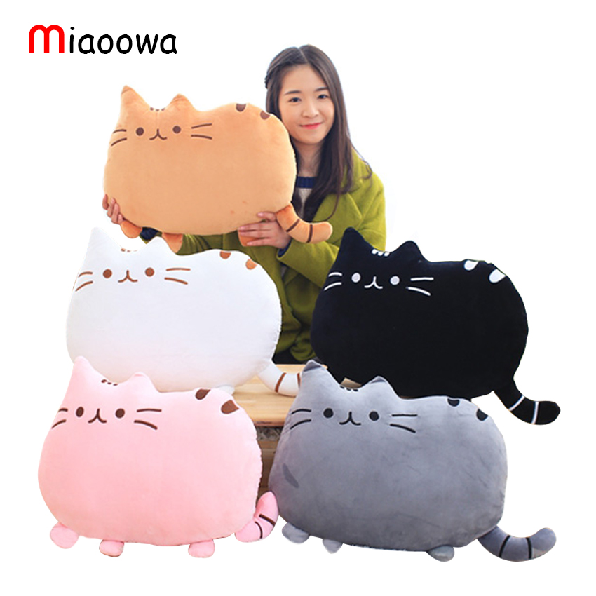 40*30cm Cute Plush toy Stuffed Animal Doll Anime Toy Pusheen Cat for Girl Kids Soft Kawaii Cartoon Cushion Birthday Gift 4 colors pusheen plush cute soft animal toy giraffe plush doll birthday gift toys for children 18cm baby dolls free shipping