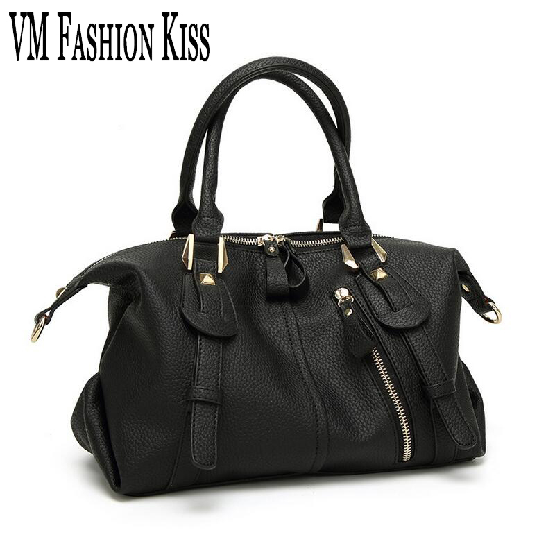 VM FASHION KISS High Quality Ladies PU Leather Handbag New Fashion Wild Lady Messenger Bags Hot Sale Women's Zipper Shoulder Bag vm fashion kiss genuine leather serpentine chain small messenger bags for women high quality mini shoulder bags falp bag lady
