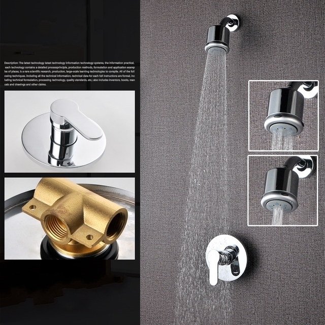Air injection type Three function Shower Head Set Bathroom Shower ...