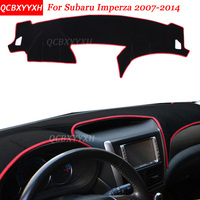 Car Styling Dashboard Avoid Light Pad Polyester For Subaru Imperza 2007-2014 Instrument Platform Desk Cover Protective Mats