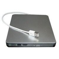 Externe USB2.0 Plateau Type DVD +/-R 8X/CD-R24X Brûleur Lire Écrivain POP-UP Mobile Disque Dur Externe Pour Windows PC
