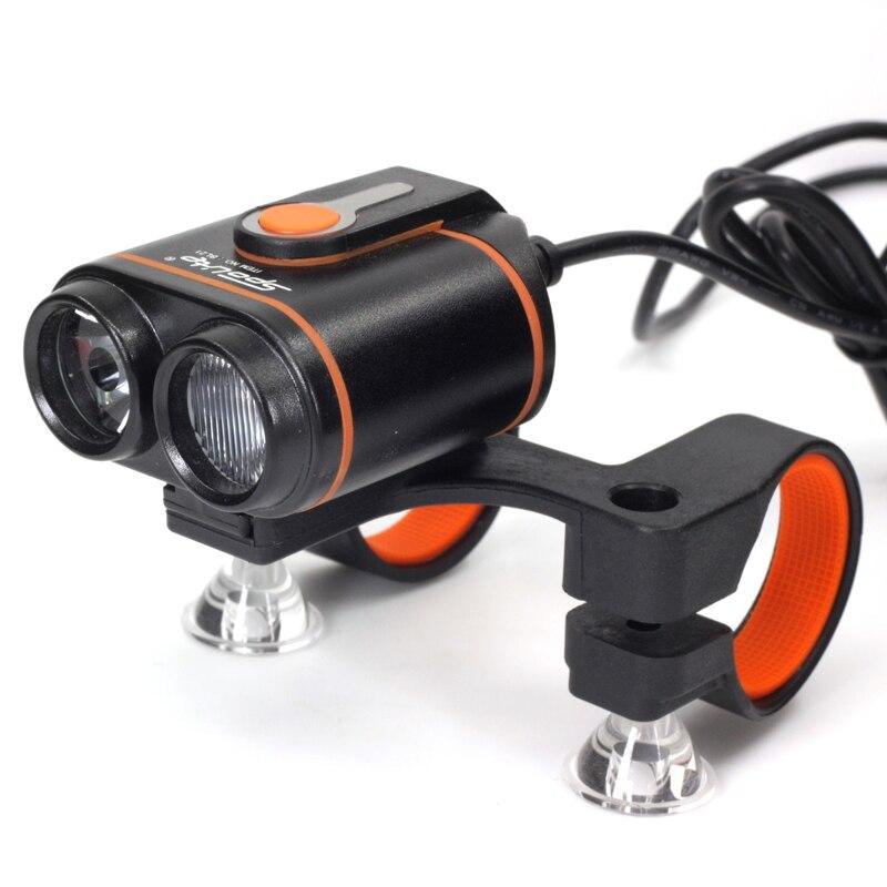 2000LM Lumière De Bicyclette Led De Vélo Lumières 2x XML-T6 Guidon Vélo Avant Lampe Phare Vélo Torche VTT Projecteur Avec Batterie Pack