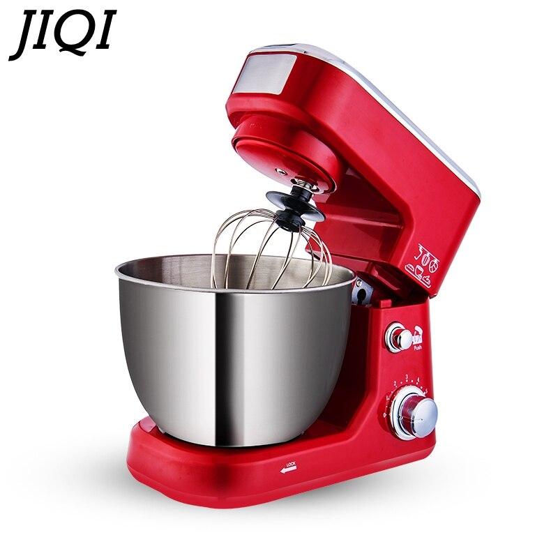 JIQI 4L 600 W ménage électrique Chef Machine table mélangeur mélangeur 220 V cuisine outils cuisson alimentaire stand mélangeur gâteau pâte à pain