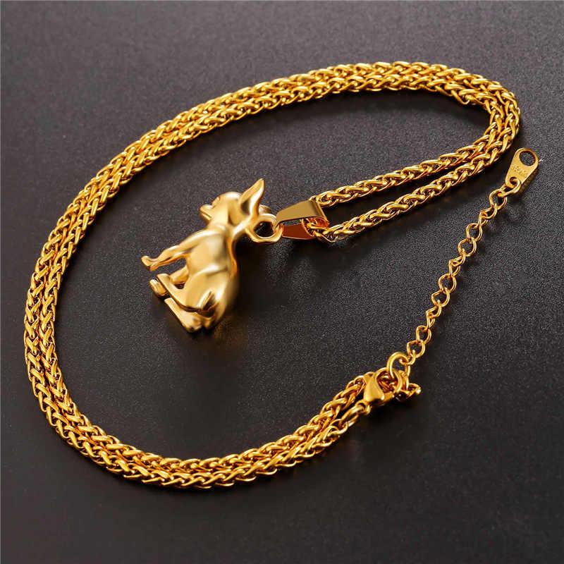 Starlord chihuahua naszyjnik z psem wisiorek Collier ze stali nierdzewnej/złoty kolor łańcuch kobiety/mężczyźni kołnierz zwierząt biżuteria z motywem zwierząt domowych GP2464