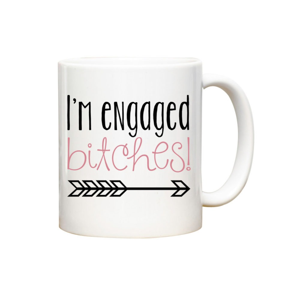 Wedding Gift Mugs: Wedding Gift Engaged Bride Coffee Mugs Black Cold Hot