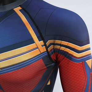Image 5 - Captain Marvel 2019 New 3D Compression Shirt Printed shirts Men Compression Shirt Cosplay Quick drying clothes For Gyms T Shirts