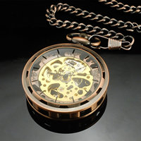 2017 Mechanical Pocket Watch Steampunk Retro Archaize Luxury silver bllack Pendant Pocket Watches for Men Women with gift box