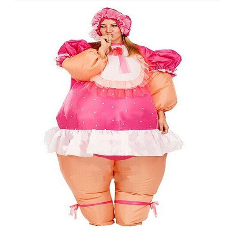 赤ちゃん人形インフレータブル衣装女の赤ちゃんインフレータブルコスチュームアダルトファンシードレススーツパーティーハロウィンクリスマス用男性と女性  グループ上の ノベルティ & 特殊用途 からの ゲーム コスチューム の中 1