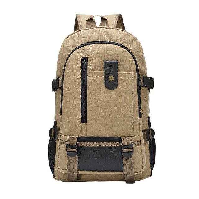 47537ab50eab Large Capacity Vintage Canvas Backpack Men Travel Canvas Backpack Sport  Rucksack Satchel School Hiking Bag mochila masculina