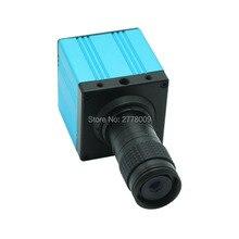 Big sale HDMI USB Industrial Digital Microscope Camera with remote control TF card storage video+5X-100X Mini Optical C-mount Lens