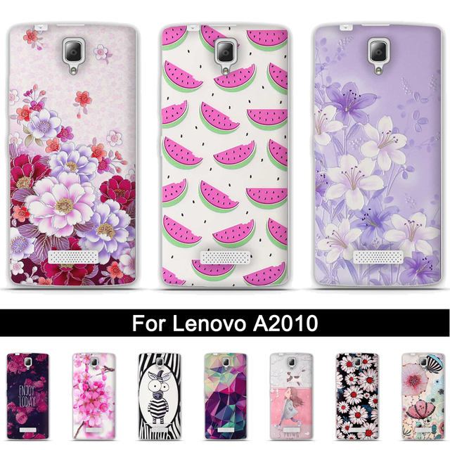 low priced af1ac 49e2e US $1.02 7% OFF|Protection Cover Case for Lenovo A2010 Back TPU Soft Case  Cover For Lenovo A 2010 Painting 3D Relief Print Silicone Phone Shells-in  ...