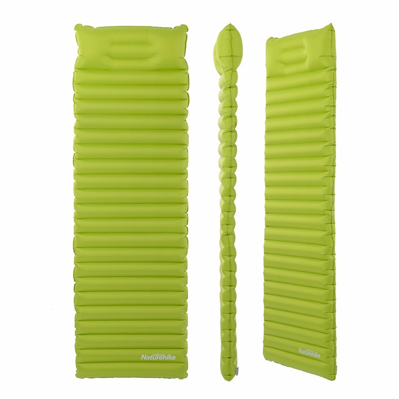 Naturehike Inflatable Sleeping Bag Air Mattress Breathable Travel Moisture-proof mat TPU air mattress With Pillow Camping mat funny summer inflatable water games inflatable bounce water slide with stairs and blowers