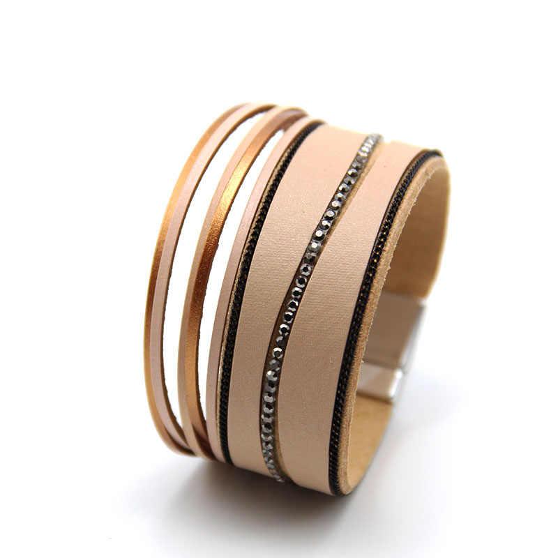 ZG nuevo diseño de joyería de moda al por mayor multicapa vintage pulsera de cuero para hombres y mujeres 19cm regalo