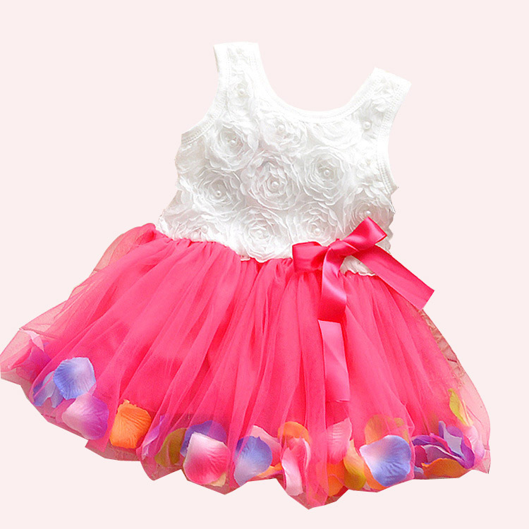 Hot lace flower cute baby dress party wedding birthday for Infant dresses for weddings