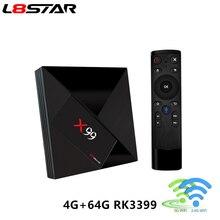 L8STAR X99 Android 7,1 ТВ коробка RK3399 4 Гб Оперативная память 64 Гб Встроенная память с голосовым дистанционным 5G Wi-Fi супер 4 K OTT HD2.0 Smart ТВ BOX Set TOP BOX