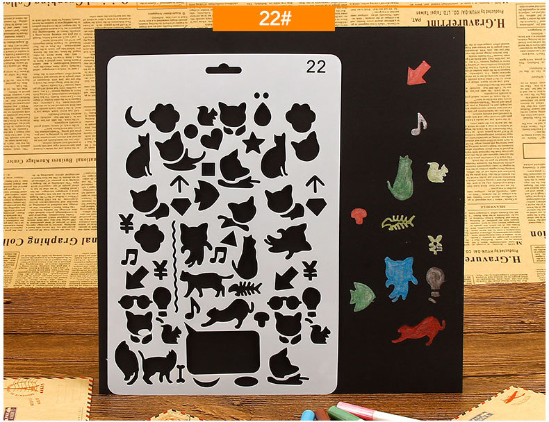 Cat Layering Stencils for Diy scrapbook/photo album Decorative Embossing coloring,painting stencil,home decor