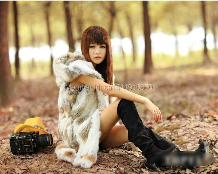 SJ002-01 Real Rabbit Fur Vest/Mexico Women Style Real Fur Vests Fast Shipping Customized Size