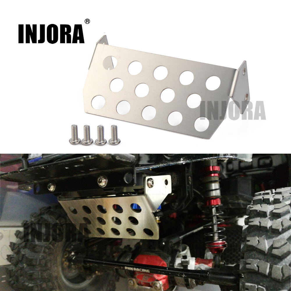 INJORA 1PCS Stainless Steel Front Chassis Protector Plate for 1/10 RC Crawler for Axial SCX10 II 90046 90047 90059 90060