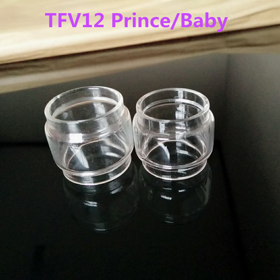 2pc <font><b>TFV12</b></font> <font><b>Prince</b></font> <font><b>Glass</b></font> Tube <font><b>Bulb</b></font> Edition Replacement Pyrex <font><b>Glass</b></font> Tubes for <font><b>TFV12</b></font> <font><b>Prince</b></font> Atomizer 8ml Baby Tank 4.5ml E Cigarette image