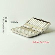 Moda srebrny materiał mentalny uchwyt na papierosy do pudełka na kasety IQOS dla IQOS 2.4 Plus 20 sztuk pojemnik na pudełko papierosów
