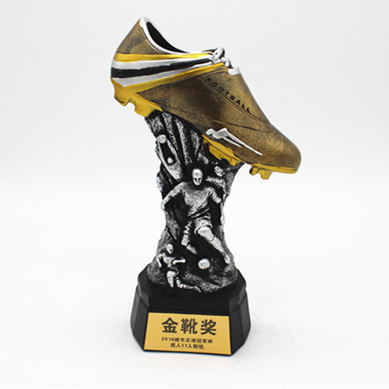Newest High-grade Reesin Boot Award Football Best Shooter Champions Trophy Cup Winner Soccer Fans Souvenirs Customizable new style blue ribbon 45 cm english premiership trophy cup barcley premiership cup cup soccer football replica trophy cup