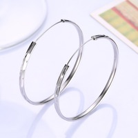 100% Silver Women's Silver-Free Wholesale Jewelry Accessories Medium Fashion Earrings in Sterling Silver-SVE169