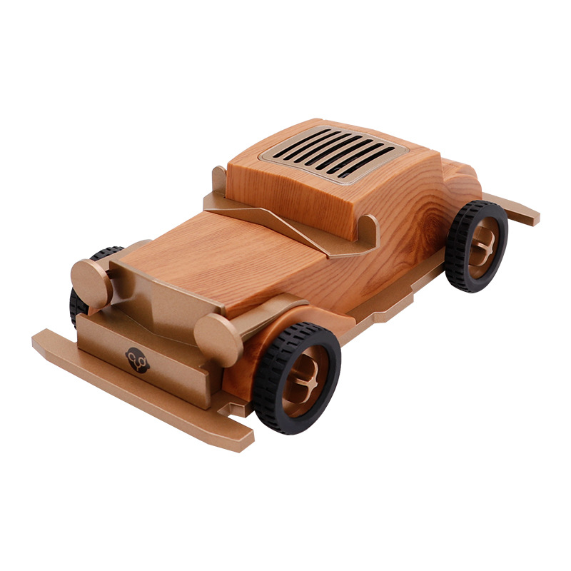 2019 New wooden retro vintage old car AS60 Bluetooth speaker wireless mini sound box for children/lovers with TF USB AUX FM