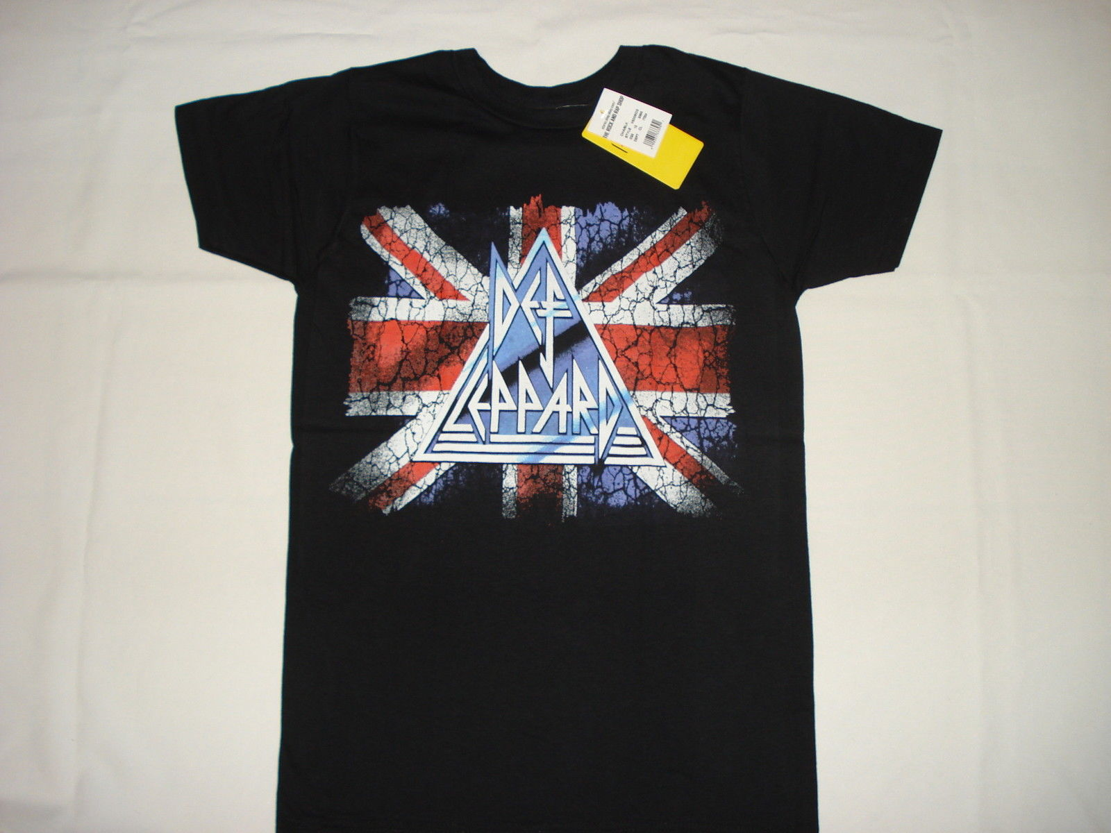 72688f22 DEF LEPPARD UK FLAG NEW T-SHIRT S M L XL 2XL METAL ROCK BAND JOE ELLIOT  RICK SAV Short Sleeve Round Neck T Shirt Promotion