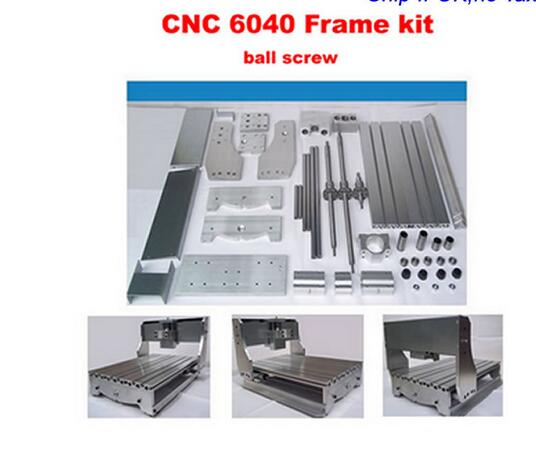 Free tax!!! Customized DIY cnc 6040 CNC machine frame kit , ball screw, optical axis, bearing and spindle clamp cnc 6040z diy cnc frame lathe kit of milling engraving machine with ball screw free tax to eu